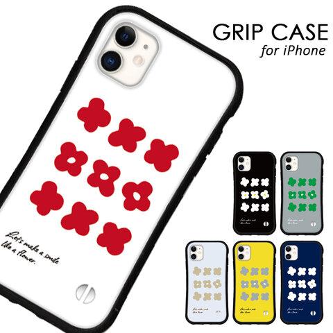 送料無料 iPhoneケース iPhone13 12 pro mini iPhone11 xr xs se 第二世代 iface型 カバー スマホケース グリップケース アイフォン 花柄 北欧