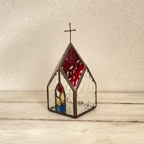 ✨教会✨のLEDキャンドルランプ 単品 《赤色》