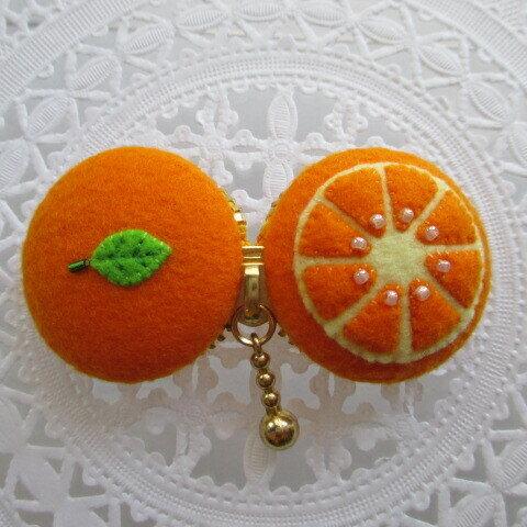 Case de macaron *オレンジ* ♡35F10108