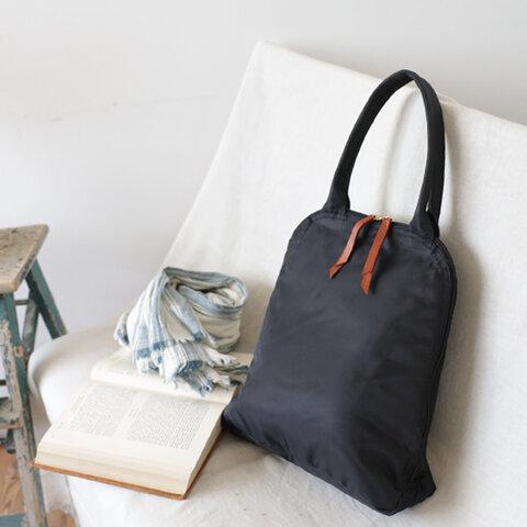 *新作 軽量 約230g「賢良な鞄」 クッション入り ナイロン 縦長トート バッグ A4サイズ可 肩掛け P37B