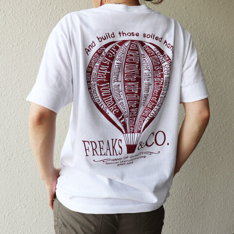 【送料無料】再入荷!【Freaks&co.オリジナル】ヘンリーネックTシャツ/バルーンプリント