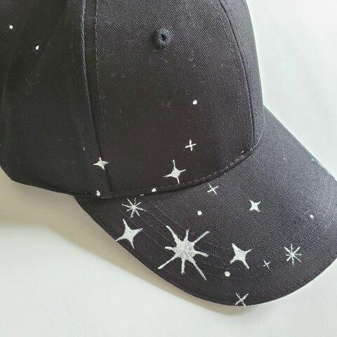 キラキラ輝く星のアウトドアキャップ「輝き」