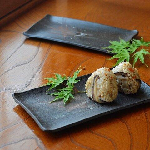 長皿/黒・焼き〆陶器(レンジ、オーブン、食洗器対応)