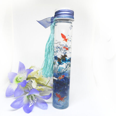 ハーバリウム(中ボトル) 金魚・1