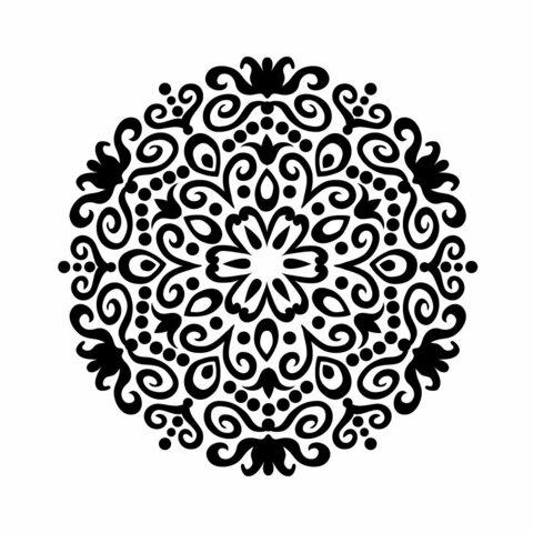【送料無料】まんだらアート 002 円形デザイン 給油口ステッカー Refueling port おしゃれ スマホ ノートパソコン カッティング