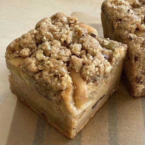 りんごとルヴァーブのクランブルケーキ/チョコの蒸しパンブラウニー 2個セット