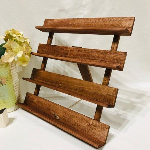 イーゼル型木製什器(棚タイプ)