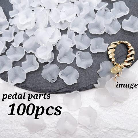 Thanks☆price【chmm4226acrc】【約100個♡】petal parts  艶消し・すりガラス風・マット・花びら