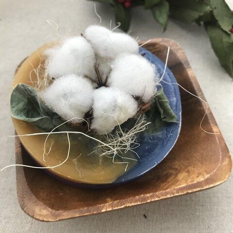 【送料無料】綿の花の和風アロマワックスサシェ♪