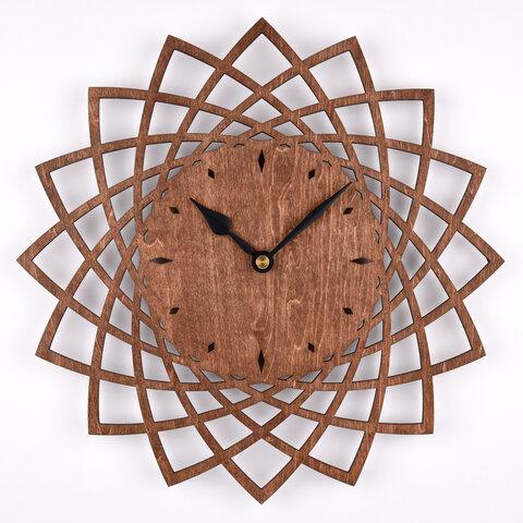 木の壁掛け時計A ダリア(木製ウォールクロック)