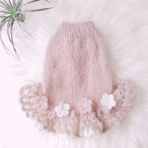 S🌺98犬☆猫用手編みセーター