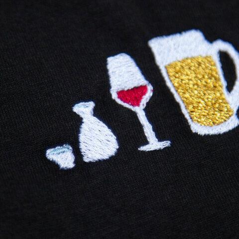 お酒好きへのギフトに!アルコールとわたし 刺繍 Tシャツ レディース フリー Tcollector