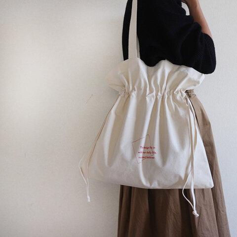 【再入荷】巾着トートバッグ