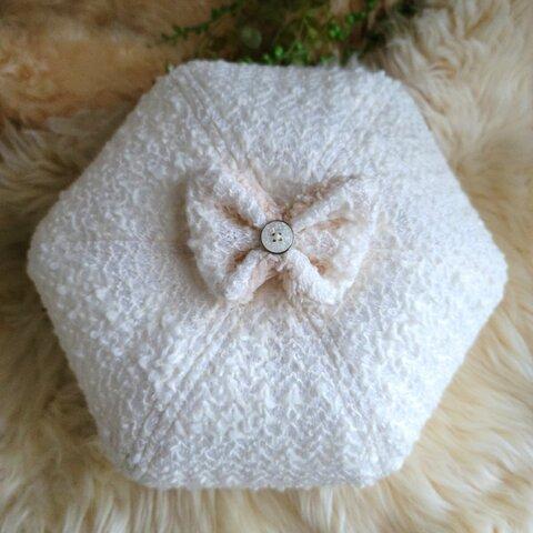 蝶が舞う✨バタフライ リボン ベレー帽 Mサイズ 約60cm