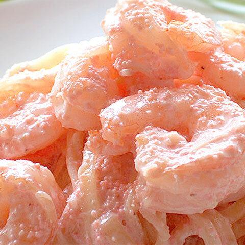 【生パスタ麺&ソース】海老と明太子のクリームソース 1人前