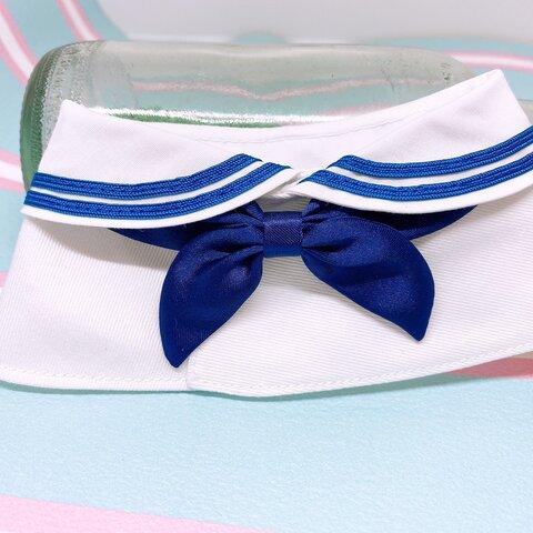 うさぎ♡私立GL学園セーラー服♡白襟・ブルーライン(ブルーリボン)