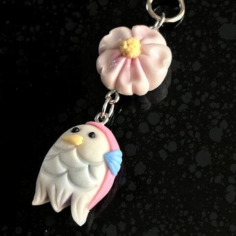 ねりきりキーホルダー 🌸桜&アマビエ様🌸 #2107