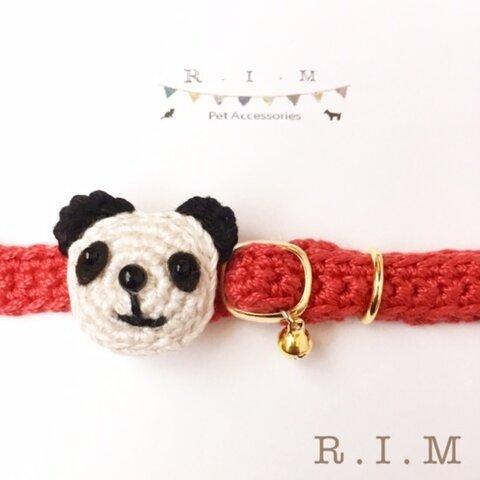 🐼コットンパンダの首輪🐼 3色 コットン首輪 ★小型犬&猫の首輪★