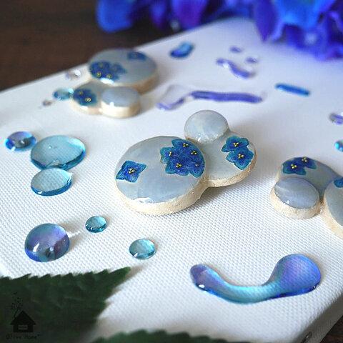 【特集掲載】梅雨と紫陽花のブローチ