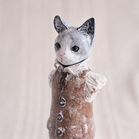猫の胸像(塑像)