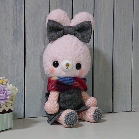 あみぐるみ*うさぎさん(ピンク)