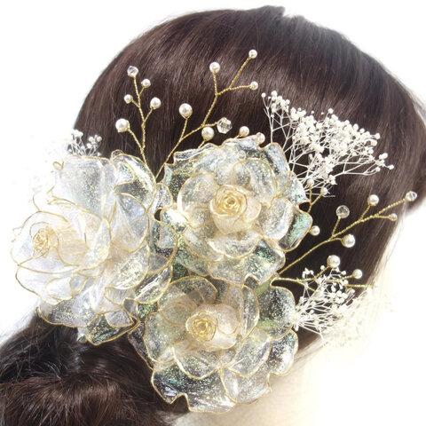 クォーツローズの髪飾り(Uピン8本セット)