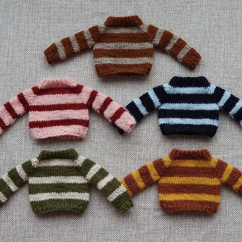 【オビツ11】ニットセーター橫條紋ブライス
