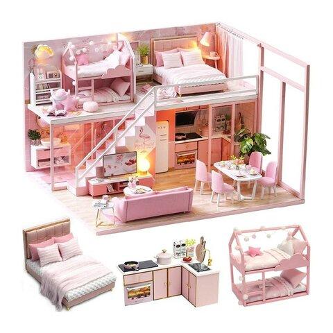 ミニチュアドールハウス ピンク
