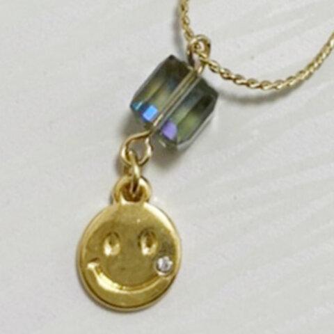 パンク☆スマイル スワロフキー ネックレス【ハード目】