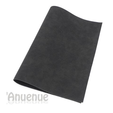 フェイクレザーフェルト A4( Black / Stone wash )