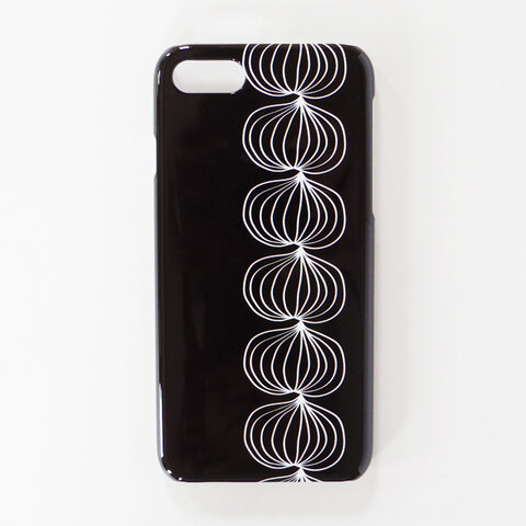 *iPhone / Android*玉ねぎ オニオン モノトーンカラー 北欧 スマホケース/スマホカバー 側面印刷 ハードカバー