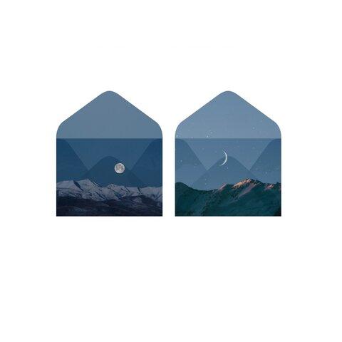 封筒 月と山 トレーシングペーパー 2種類セット 🌔 nebula