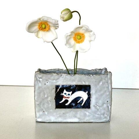 猫 花瓶〈小物入れ〉 no.354