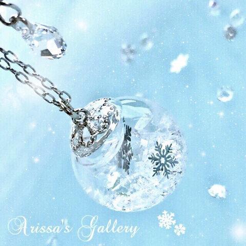 ❅*॰ॱ雪の精のネックレス❅*॰ॱスワロフスキー*雪の結晶。❅°.