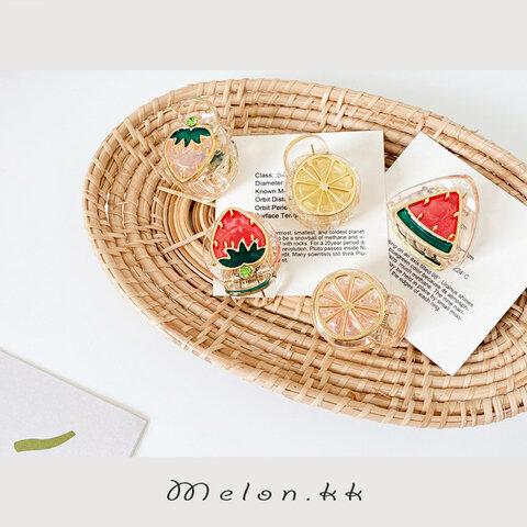 ヘアクリップ ベビー 夏 ヘアアクセサリー アレンジ 浴衣 リンクコーデ かわいい バンス 親子 子ども-MelonKK