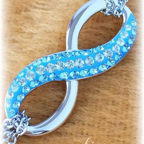 スワロフスキー  インフィニティ Luminous Blue 【ネックレス】