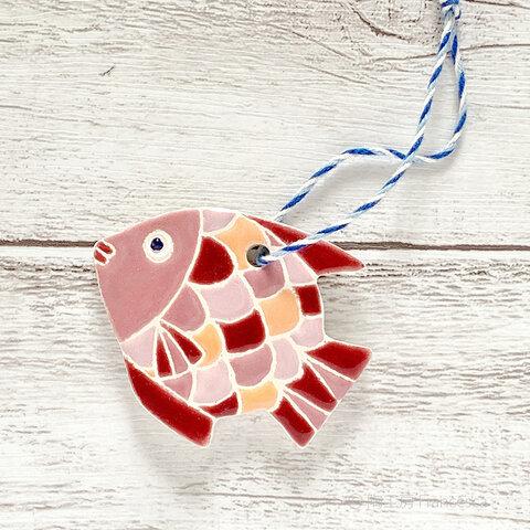 スペインタイルのオーナメント・アロマタイル:お魚タイルB