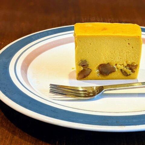 【秋!ハロウィン】高級豆腐入り 北海道産カボチャとイタリア産マロングラッセの美肌チーズケーキ