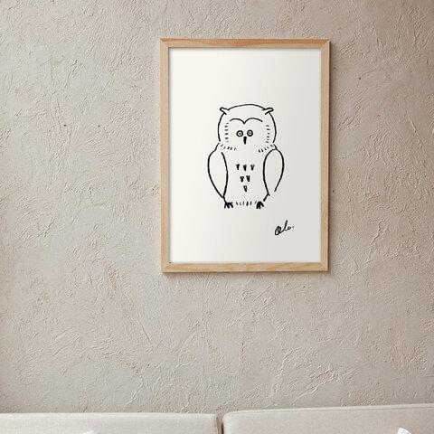 Owl / I103 / 北欧ポスター
