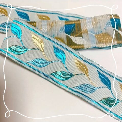 ② 刺繍リボン アンティーク 1m