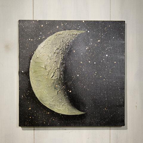 Moon neo / 月のスプレーアート作品