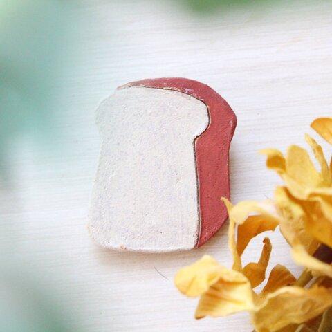 ねこやさんのパン【食パン】ブローチ