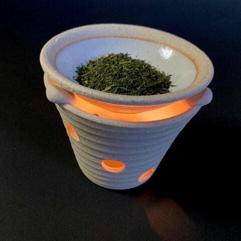 【茶香炉】お家でリラックスを!茶葉、ロウソク付き