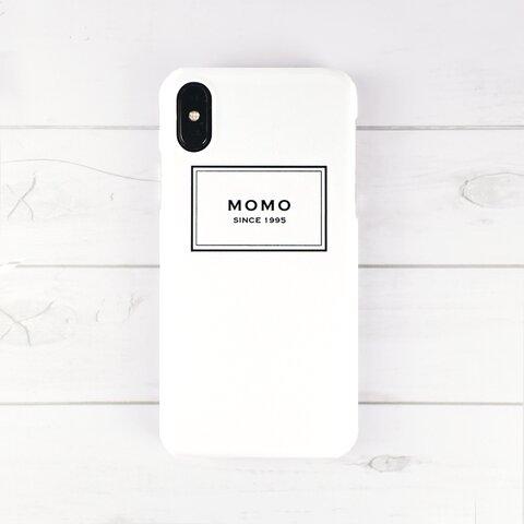 名入れモノトーンロゴ柄スマホケース iPhone13シリーズ追加
