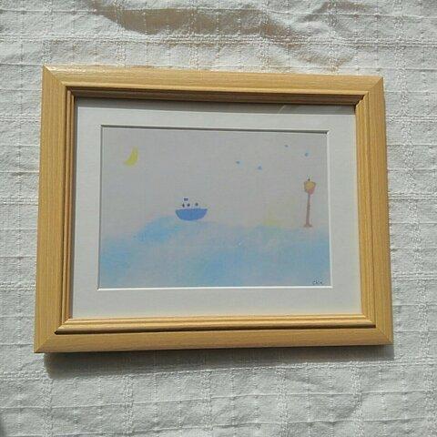『船旅』複製画 プリント作品