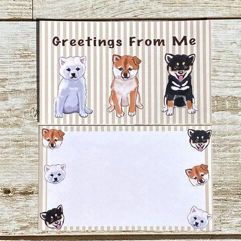 柴犬の子犬のメッセージカード