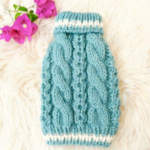 S♥17犬☆猫用手編みセーター アラン模様