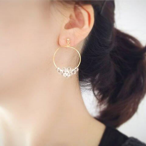 しずくを集めた耳飾り(Mサイズ)