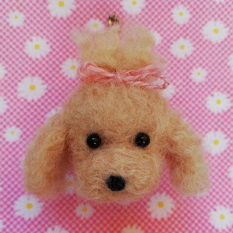 ちまっと可愛い♡羊毛トイプードルちゃんキーホルダー☆犬