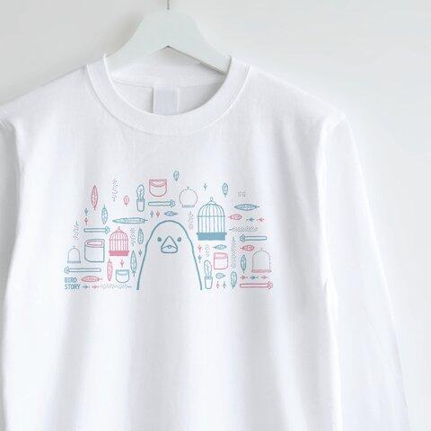 長袖Tシャツ(SMILE BIRD DAYS / 文鳥)